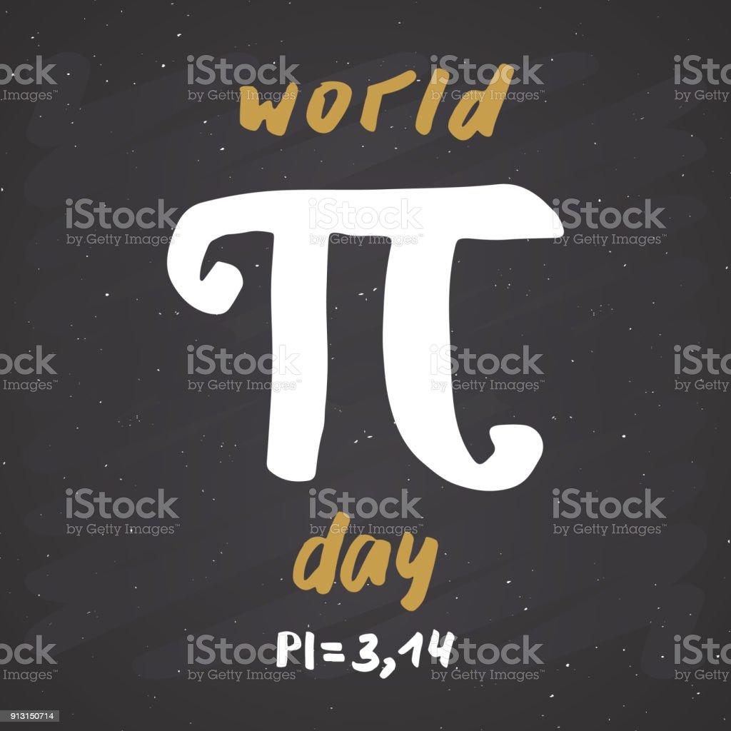 Pi Sembol El çekilmiş Simgesi Grunge Kaligrafi Matematiksel Işareti