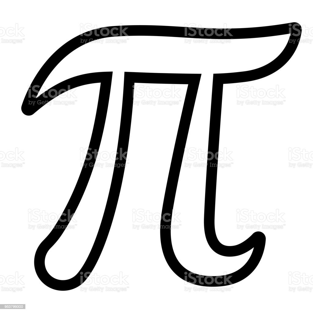 Pi Symbol On White Background Stock Illustration - Download Image Now