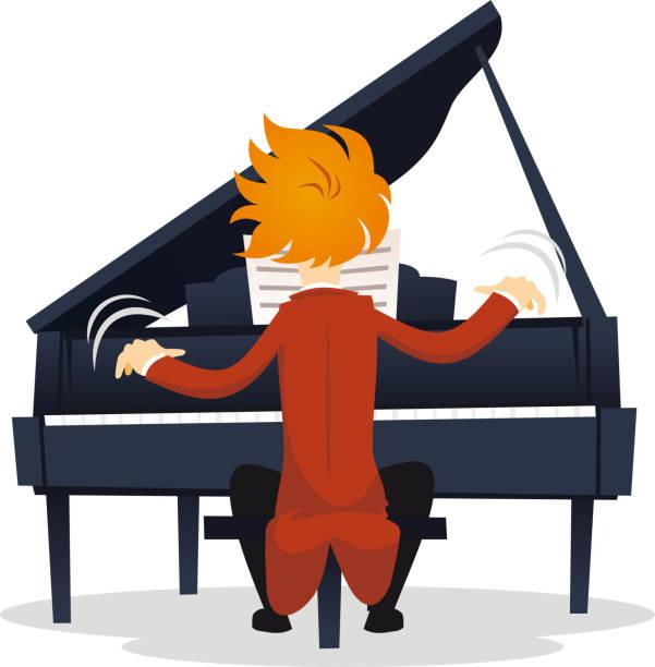 Virtuose Pianistin – Vektorgrafik