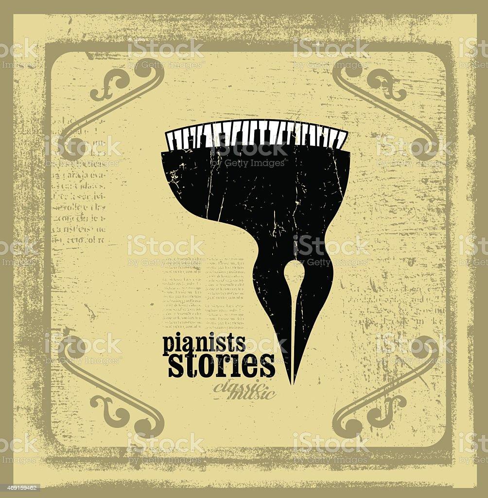 pianists stories conceptual illustration vector art illustration