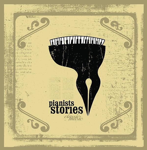 pianisten geschichten konzeptionelle illustrationen - storytelling grafiken stock-grafiken, -clipart, -cartoons und -symbole