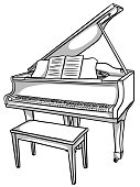 istock Piano Baby Grand Sketch 1211457308