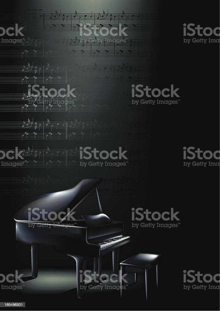 Piano Blues Vertical royalty-free stock vector art