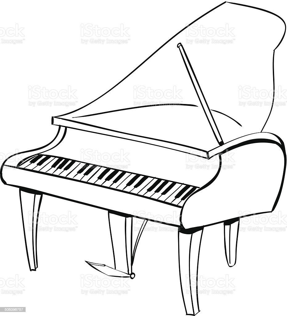 Piano Doodle Stock Vector Art & More Images of Acoustic Music ...
