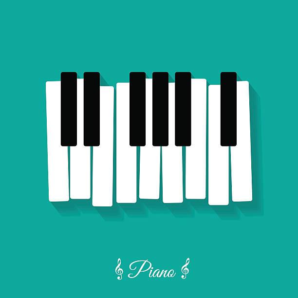 piano., flat, icon - piano stock illustrations