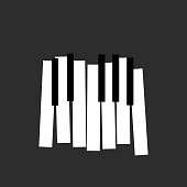 piano icon. flat style. vector illustration back