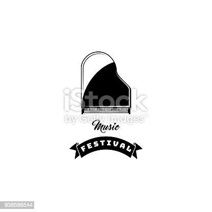 Piano Icon Musical Instrument Music Festival Symbol Vector Stock