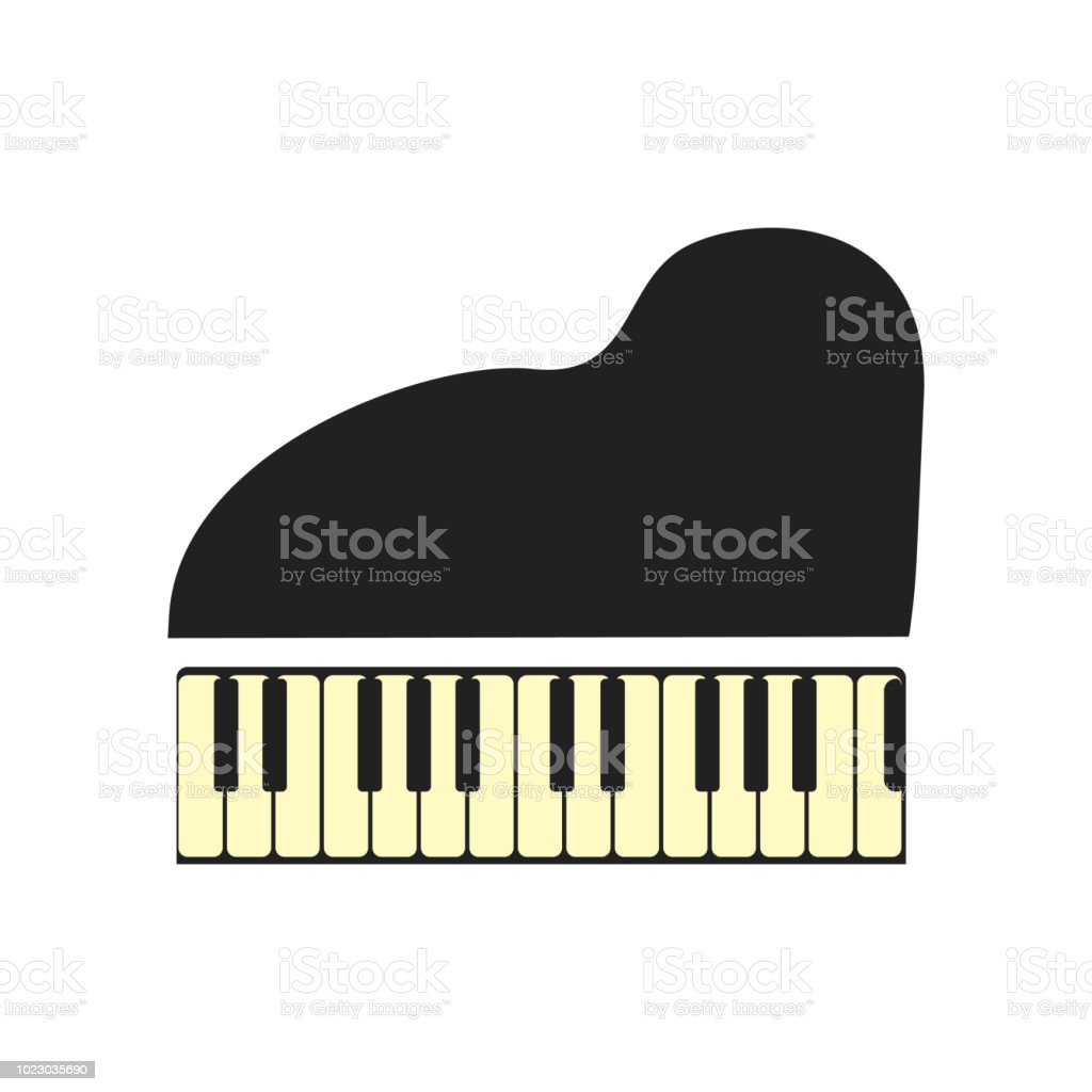 Piano Icon Vector Sign And Symbol Isolated On White Background Piano