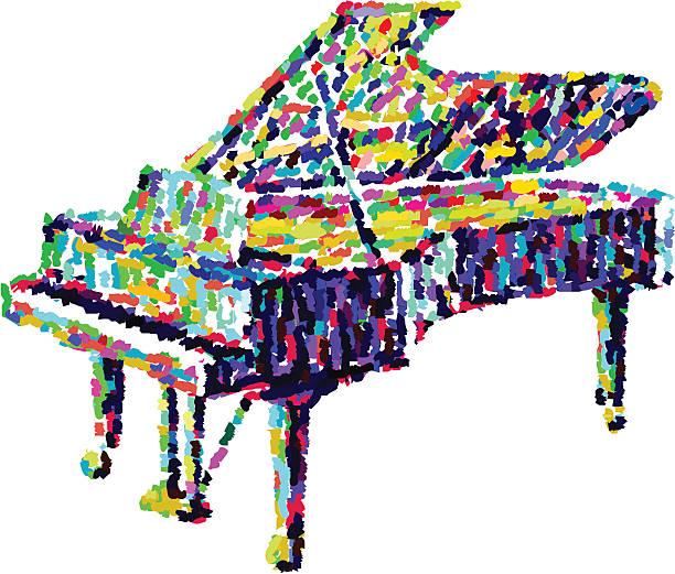 piano-illustration – Vektorgrafik