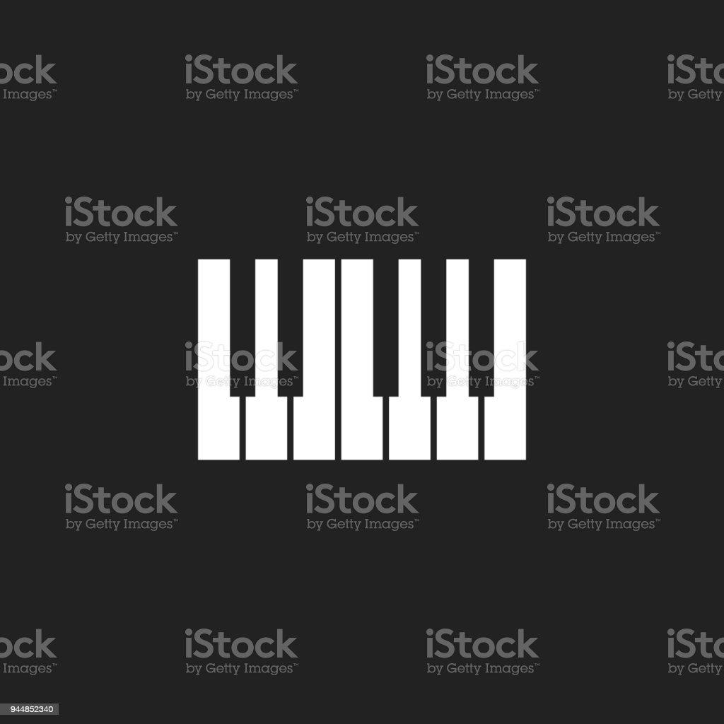 Ilustración de Logo De Icono De Teclado De Piano Plantilla De Diseño ...