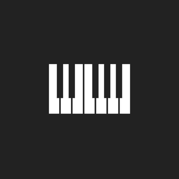 piyano klavye simgesini logosunu görmeniz gerekir. müzik tasarım şablonu - piano stock illustrations