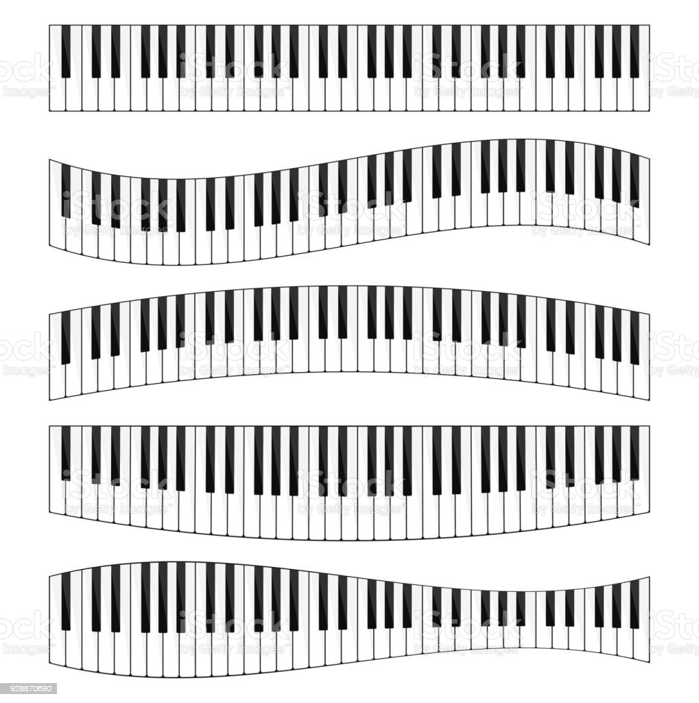 Piano keyboard image set