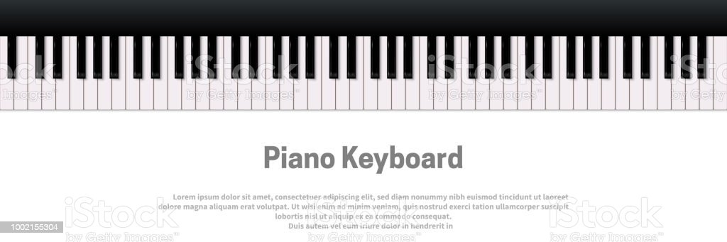 Piano Keyboard Isolated On White Background Vector Music Design Template Royalty Free