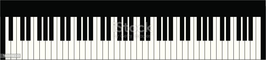 Top view of a 6+ octave keyboard.