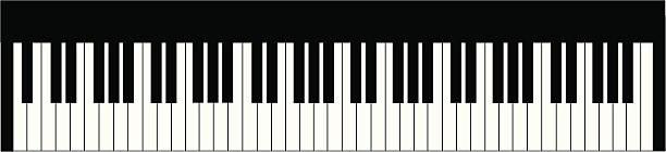 piano keyboard - piano stock illustrations