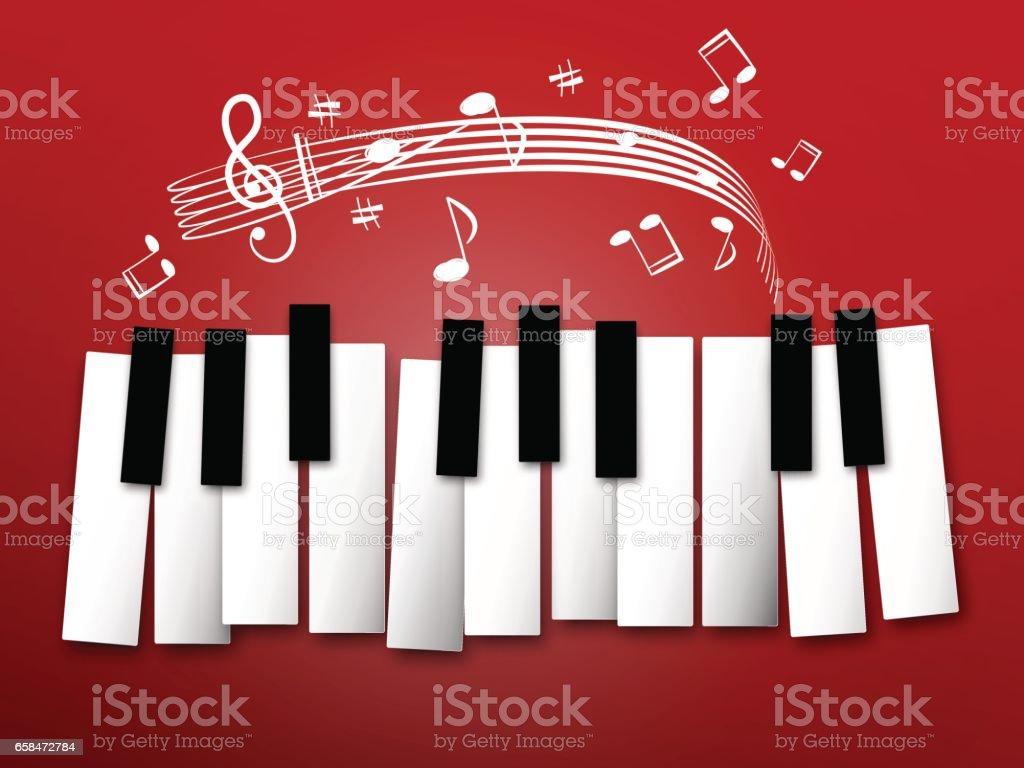 Piano Keyboard vector art illustration
