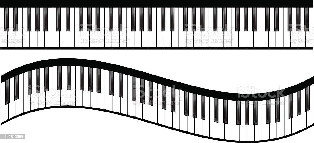 royalty free piano keyboard clip art vector images illustrations rh istockphoto com full piano keyboard clipart music piano keyboard clipart