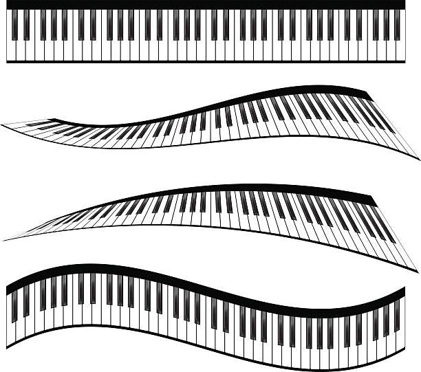 piano keyboards - piano stock illustrations