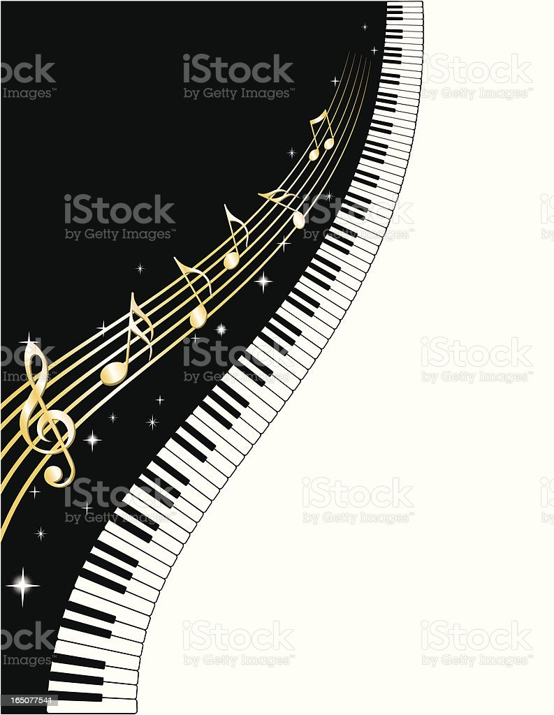 Piano Keys and Notes royalty-free piano keys and notes stock vector art & more images of arts culture and entertainment