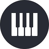 Piano keys icon, modern minimal flat design style, vector illustration