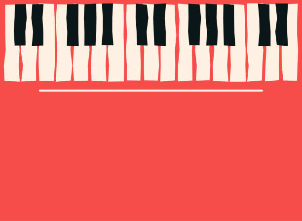 piano keys. music poster template. jazz and blues music concert background - pianino instrument klawiszowy stock illustrations