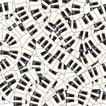 Piano keys. Seamless vector illustration.