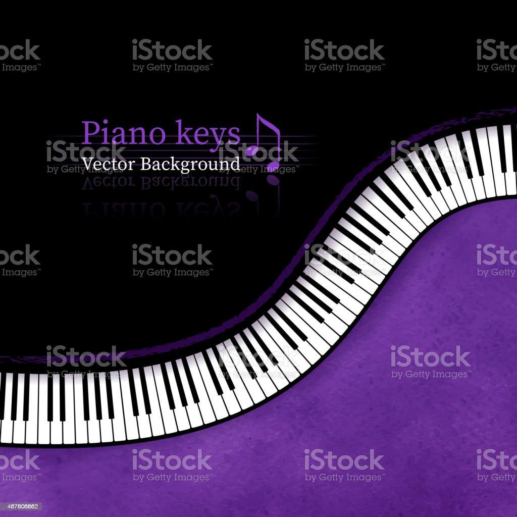 Piano keys vector background. vector art illustration