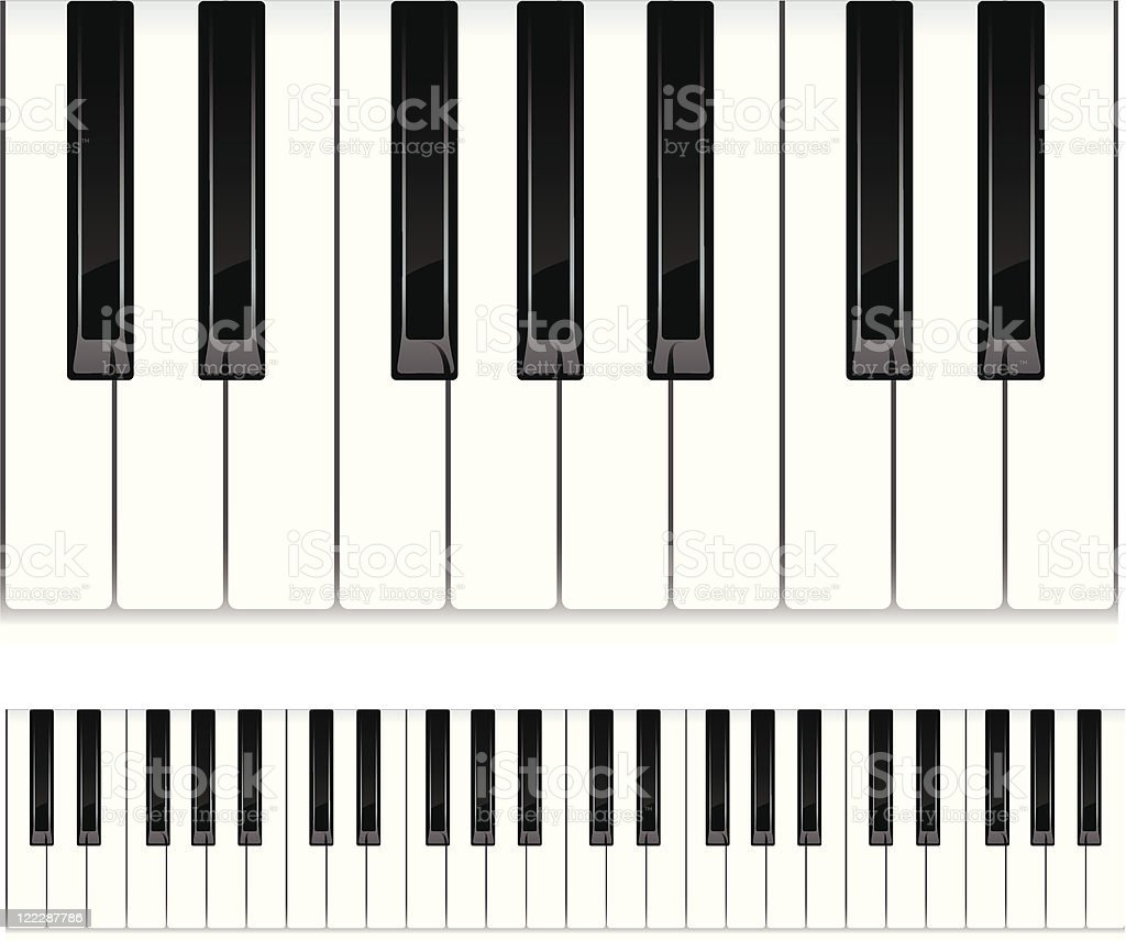 Piano keys. royalty-free stock vector art