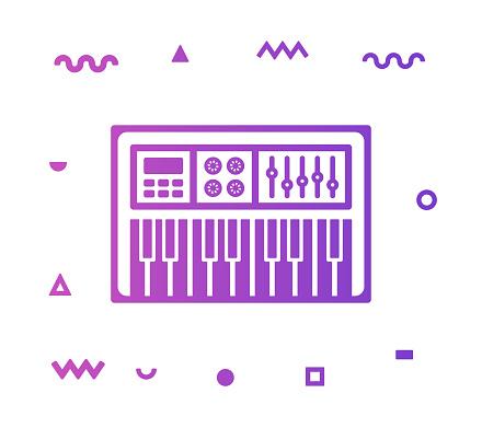 Piano Line Style Icon Design