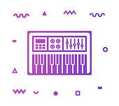 istock Piano Line Style Icon Design 1155746738