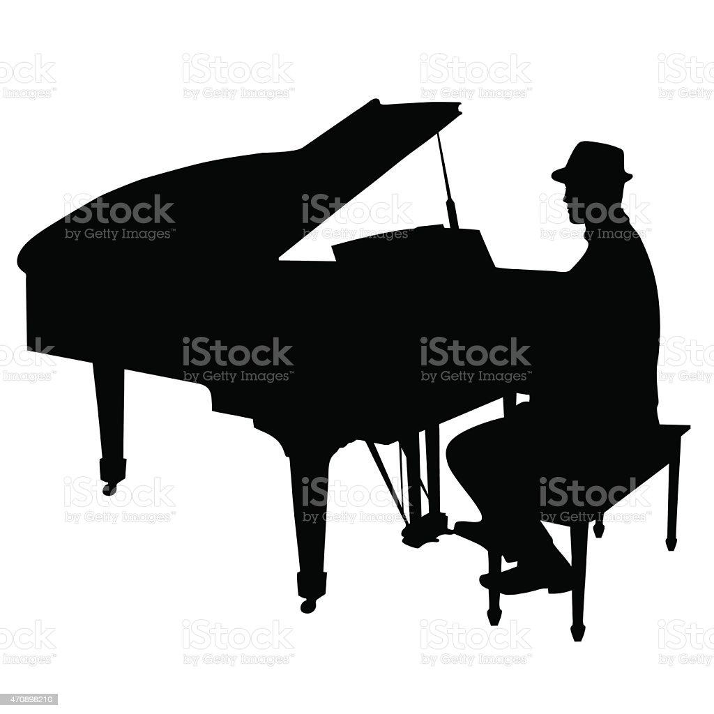 royalty free man piano clip art vector images illustrations istock rh istockphoto com  grand piano clipart free