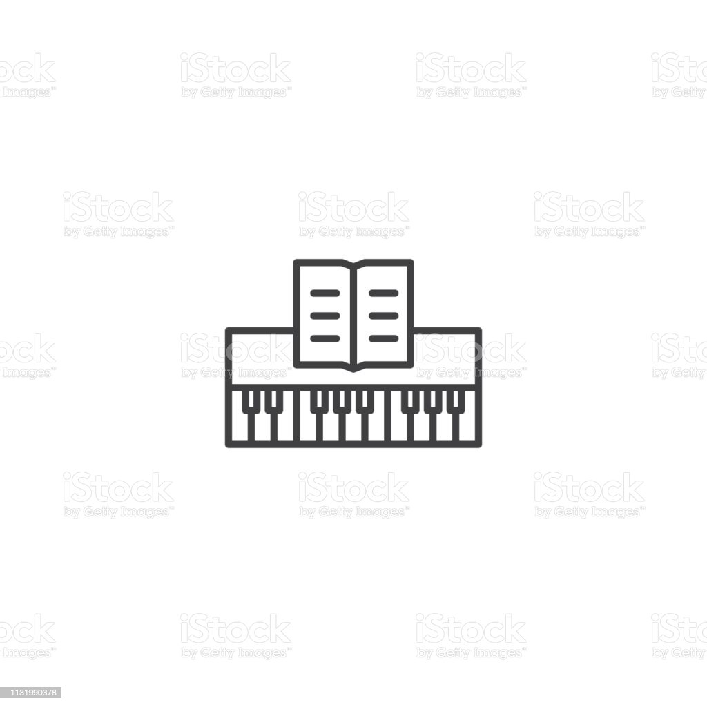 Piano Music Instrument Icon Vector Stock Illustration - Download