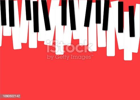 Istock Fondo De Piano En Estilo Plano Ilustración Vectorial