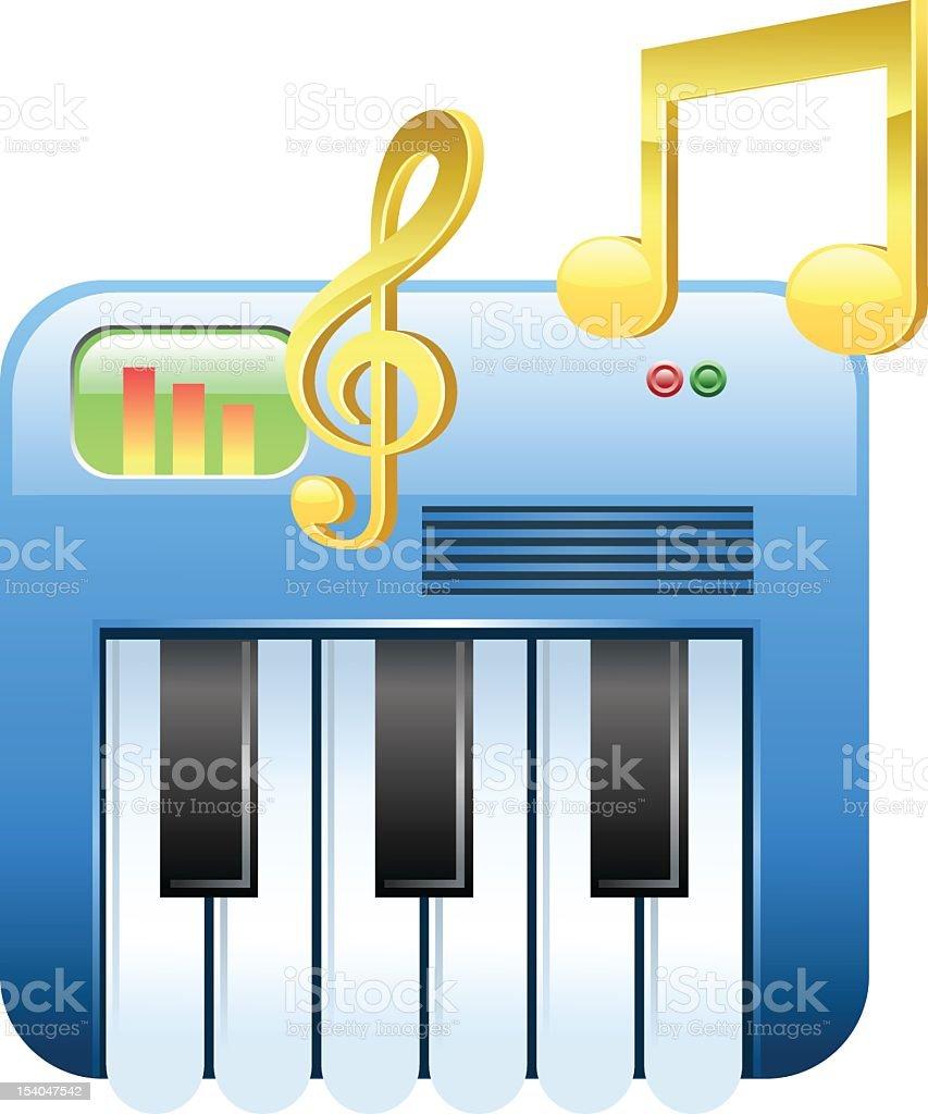 Piano Music royalty-free stock vector art