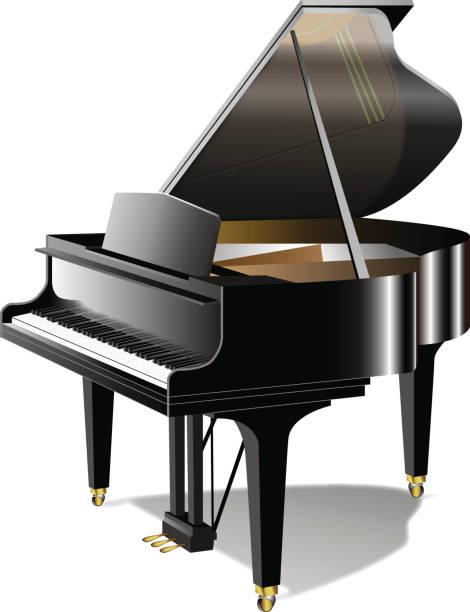 piyano no01 - piano stock illustrations