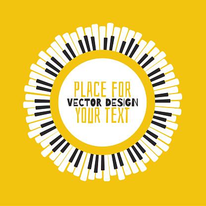 Sarı Bir Arka Planda Piyano Stok Vektör Sanatı & Anahtar'nin Daha Fazla Görseli