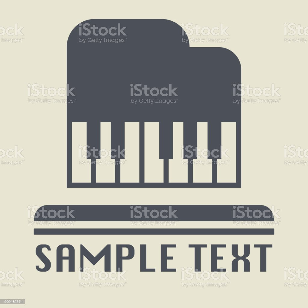 Piano or concert icon or sign vector art illustration