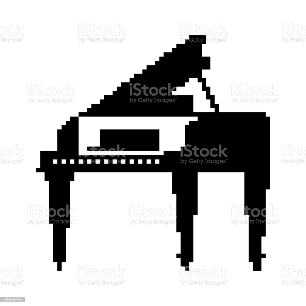 Piano Pixel Art 8 Bit Musical Instrument Vector Illustration Stock Illustration Download Image Now Istock