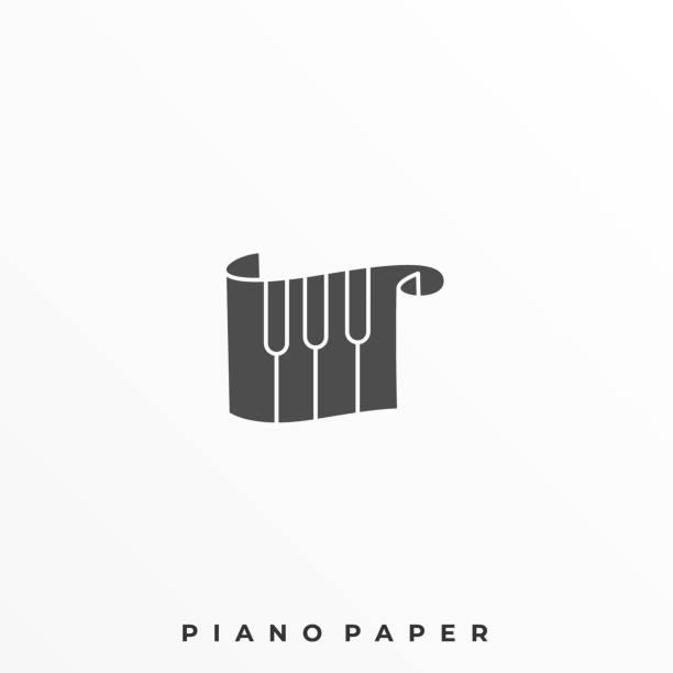 ilustrações, clipart, desenhos animados e ícones de modelo de vetor de ilustração em escala de piano - composição