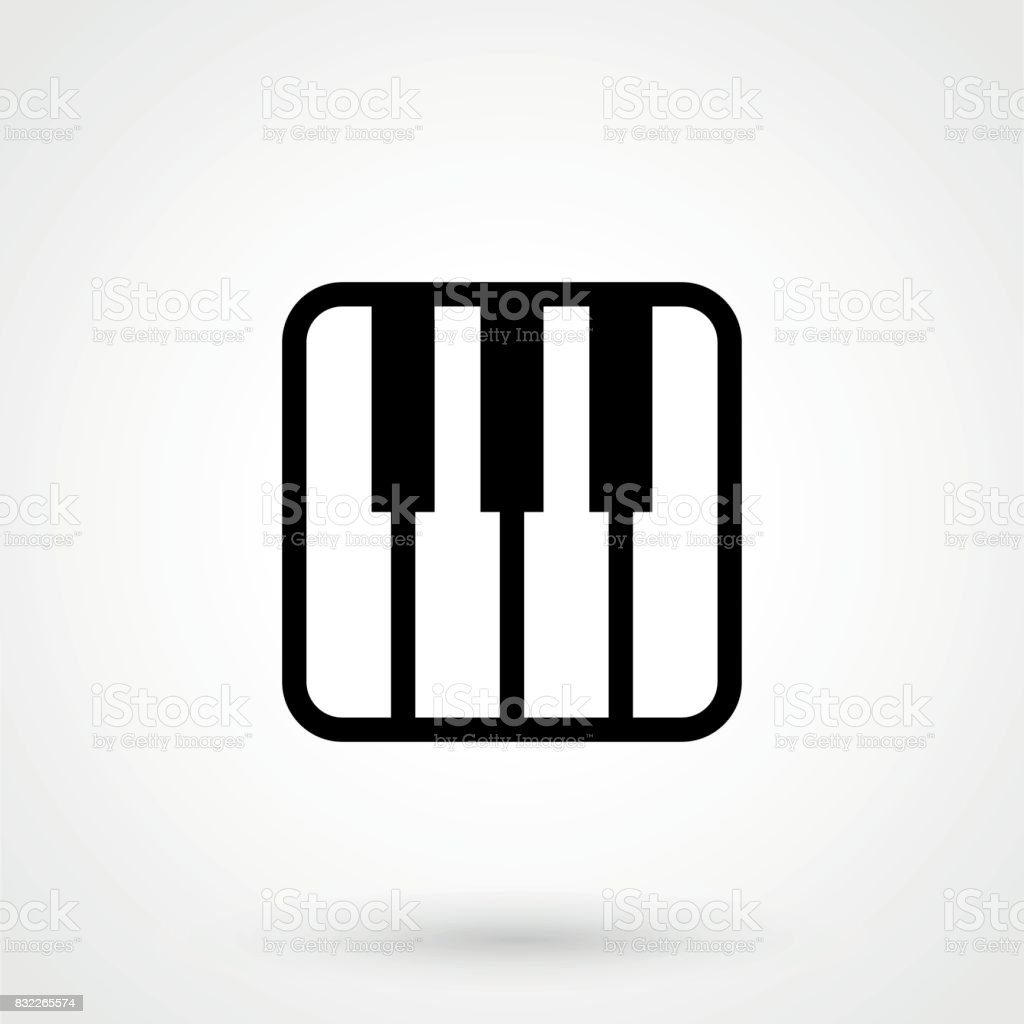 Piano Vector Icon Royalty Free Stock Art Amp More Images