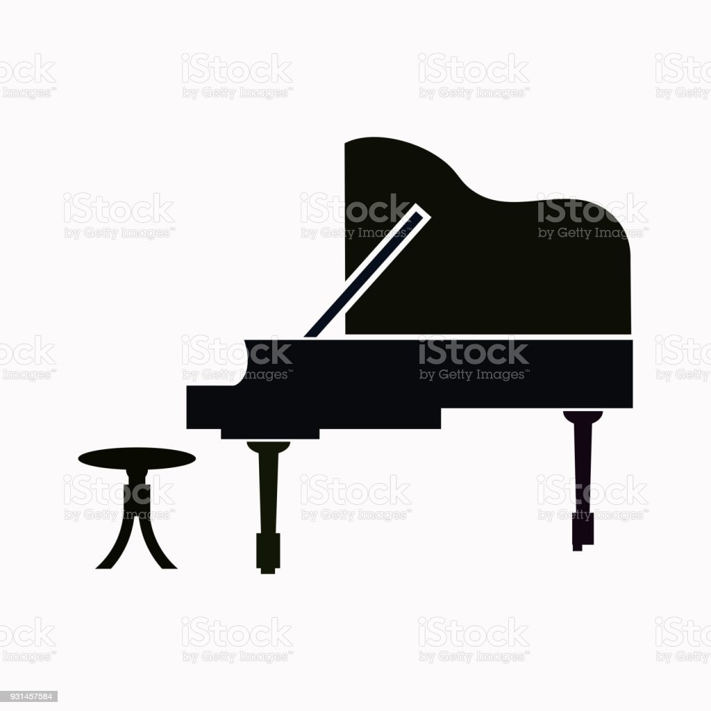 Piano Vector Icon Royalty Free Stock Art Amp More
