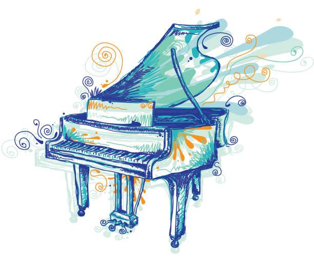 Piano vektorkonstillustration