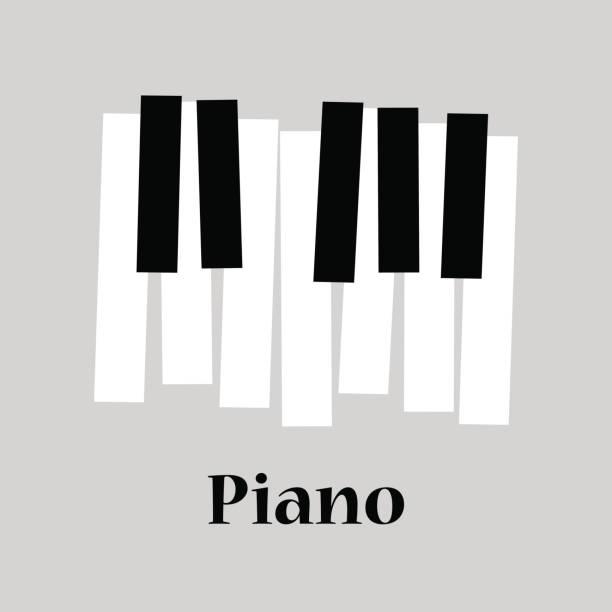 piano - musiksymbole stock-grafiken, -clipart, -cartoons und -symbole