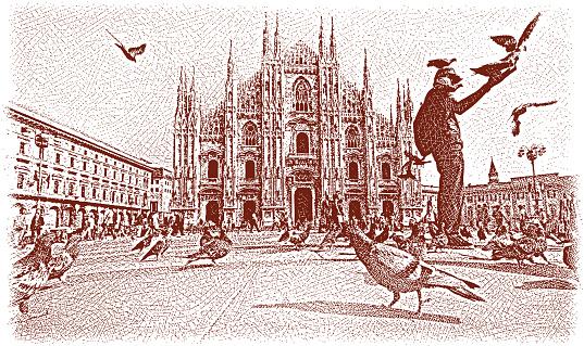 Piazza del Duomo of Milan, Italy