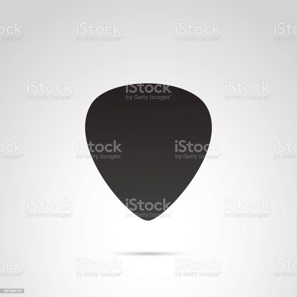 Pick guitar icon on white background. vector art illustration