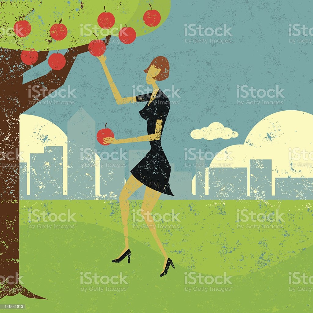 Pick the low hanging fruit royalty-free pick the low hanging fruit stock vector art & more images of 20th century