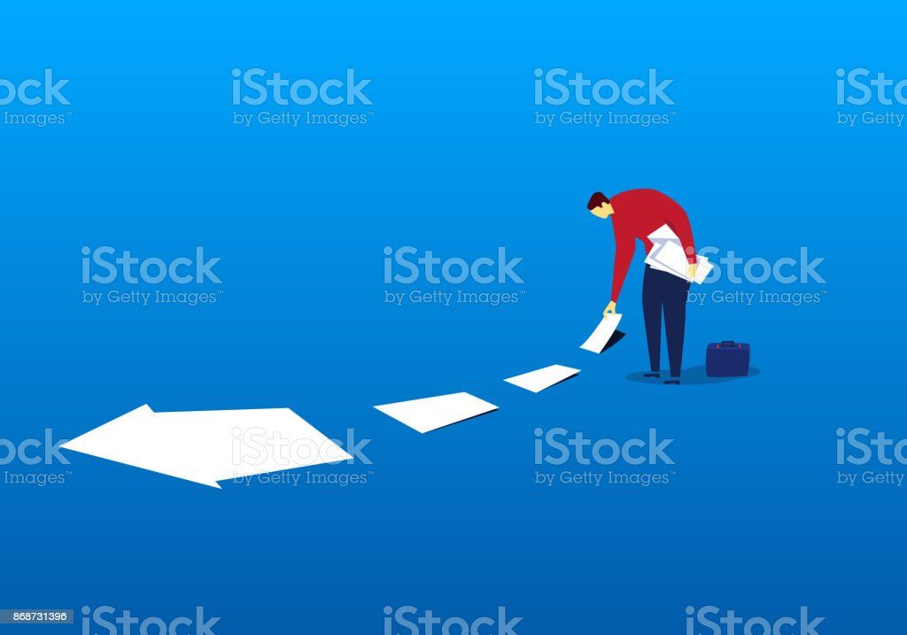 Pick up the success of the label vector art illustration