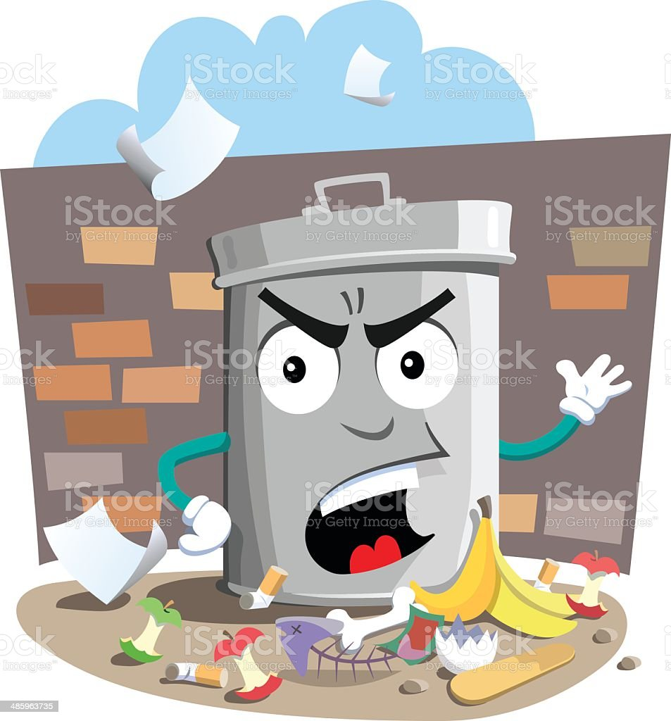 Pick Up Your Rubbish! vector art illustration