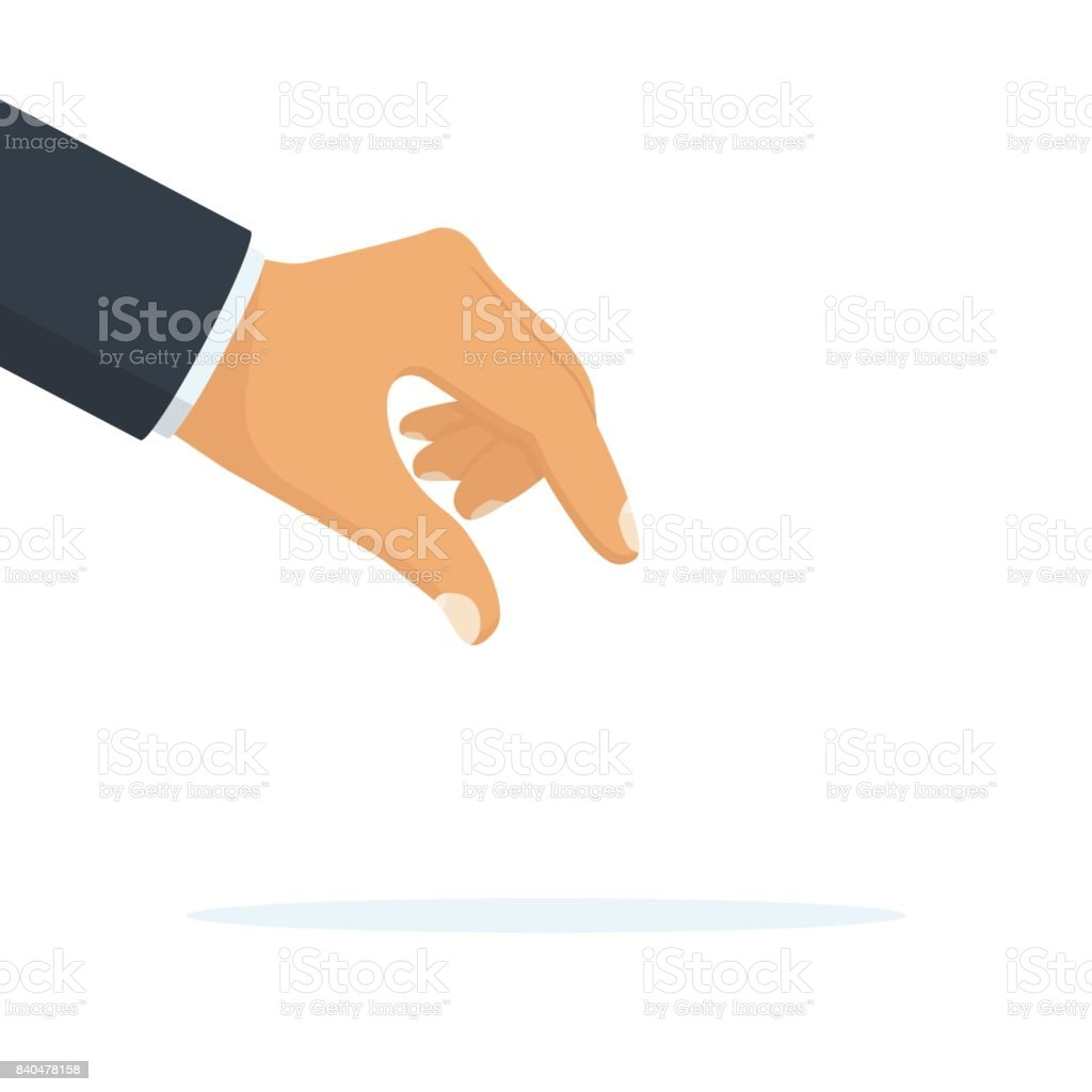Picking hand. vector vector art illustration