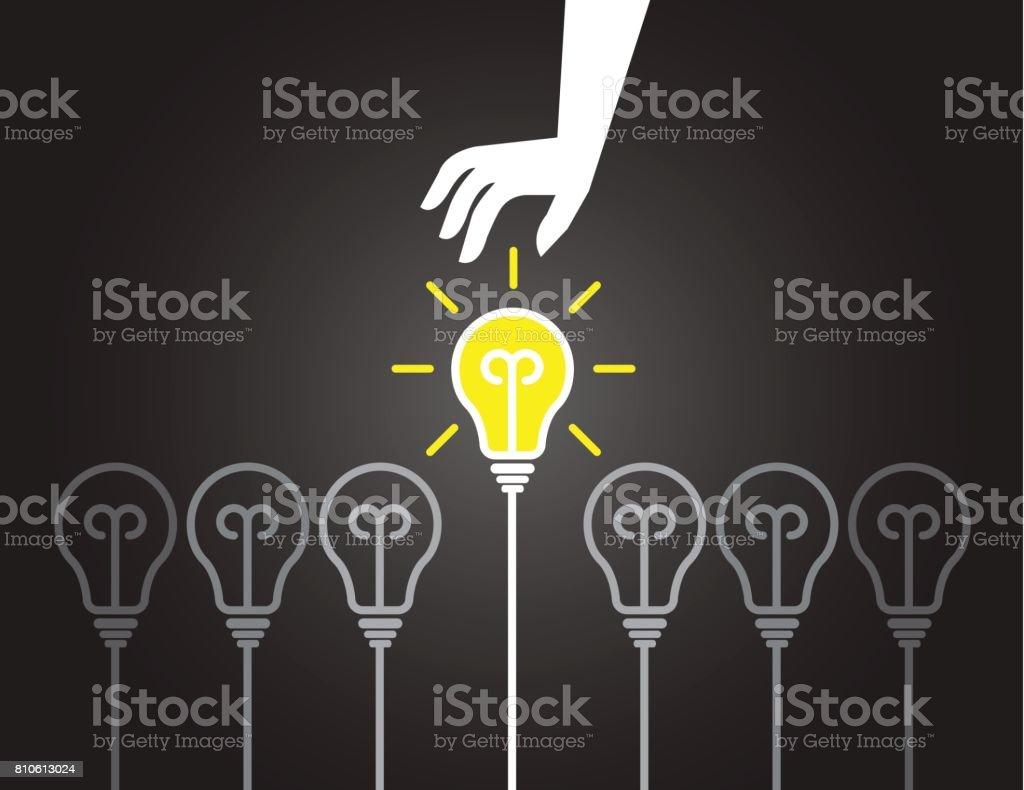 素晴らしいアイデアの背景を拾う のイラスト素材 810613024 | istock
